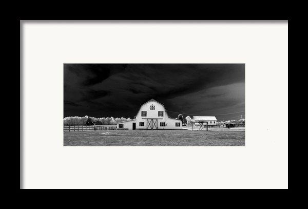 Barn Storm Framed Print By Julian Bralley