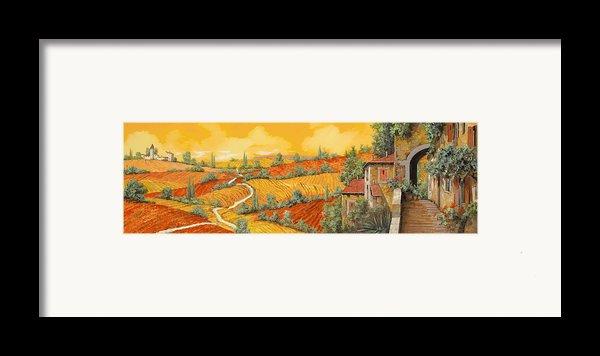 Bassa Toscana Framed Print By Guido Borelli