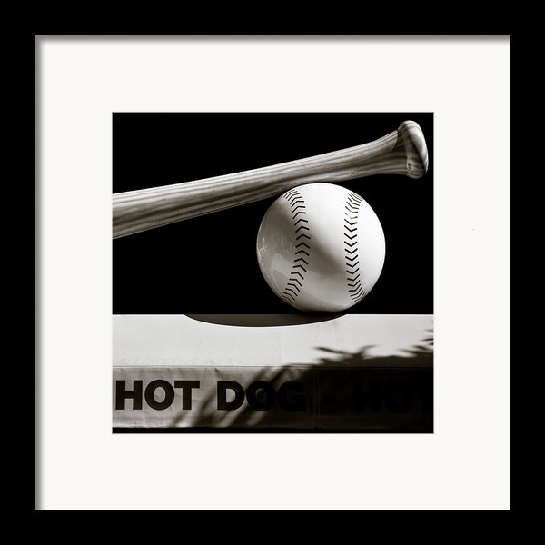 Bat And Ball Framed Print By Dave Bowman