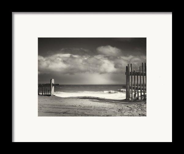 Beach Fence - Wellfleet Cape Cod Framed Print By Dapixara Art