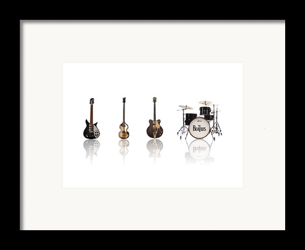 Beat Of Beatles Framed Print By Six Artist