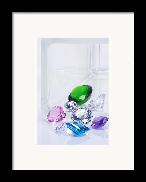 Beautiful Jewel Framed Print By Atiketta Sangasaeng