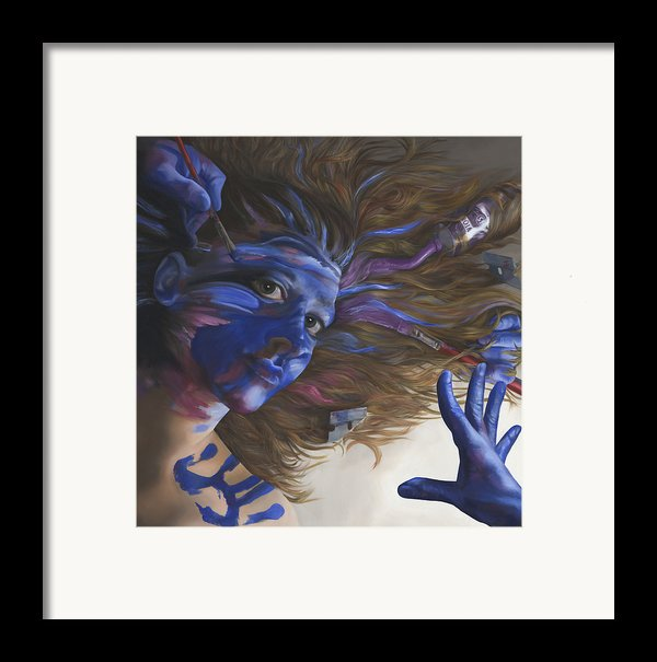 Being Art Framed Print By Katherine Howard