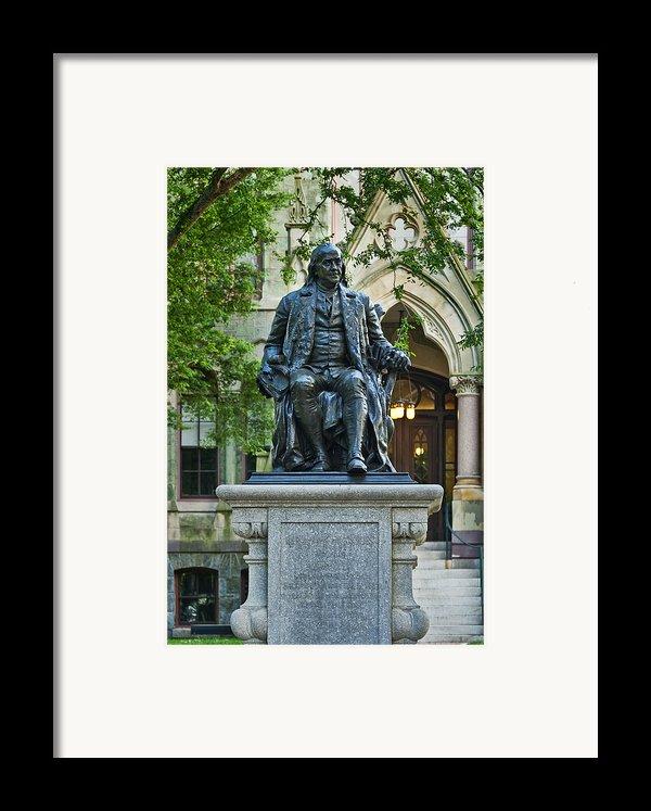 Ben Franklin At The University Of Pennsylvania Framed Print By John Greim