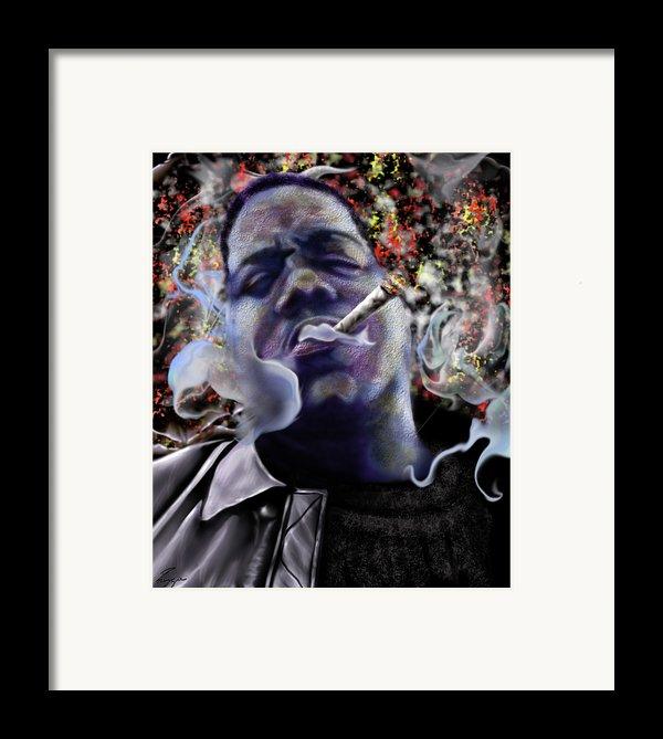 Biggie - Burning Lights 5 Framed Print By Reggie Duffie