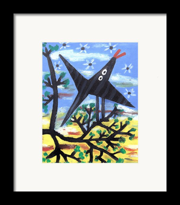 Bird On A Tree After Picasso Framed Print By Alexandra Jordankova