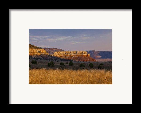 Black Mesa Sunrise Framed Print By Charles Warren