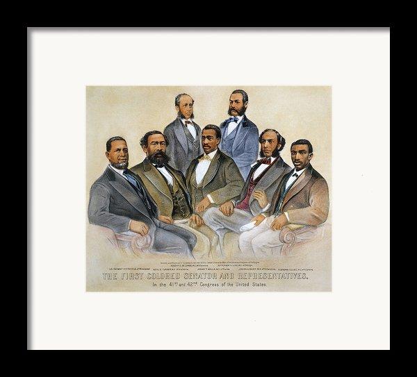 Black Senators, 1872 Framed Print By Granger