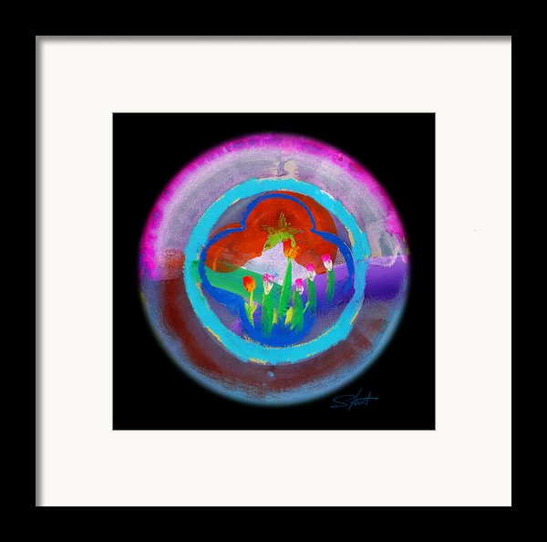 Blue On Blue On Violet Framed Print By Charles Stuart