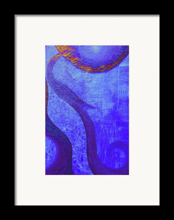 Blue Seed Framed Print By Ishwar Malleret