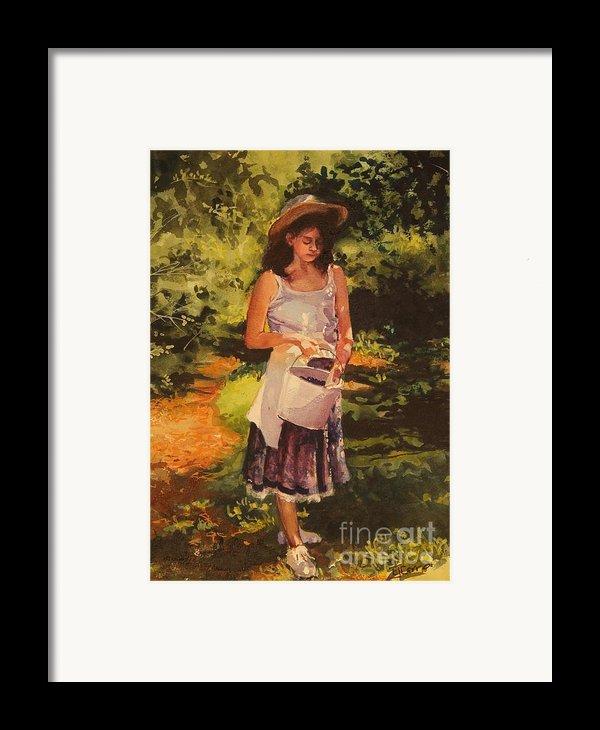 Blueberry Girl Framed Print By Elizabeth Carr