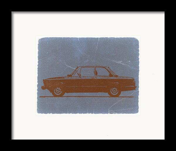 Bmw 2002 Orange Framed Print By Naxart Studio