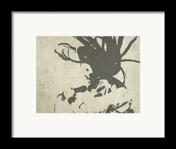 Bob Marley Grey Framed Print By Naxart Studio