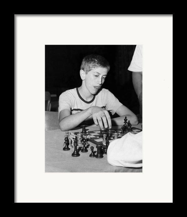 Bobby Fischer, Circa 1957 Framed Print By Everett