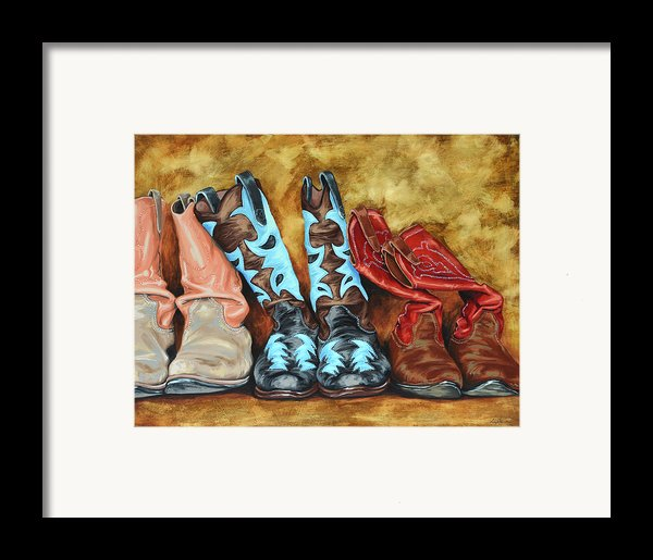 Boots Framed Print By Lesley Alexander