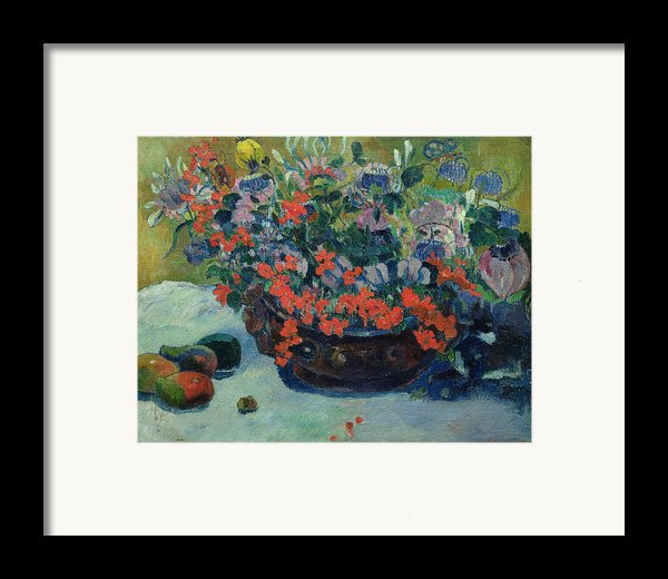Bouquet Of Flowers Framed Print By Paul Gauguin