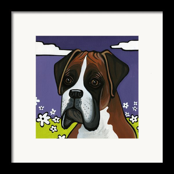 Boxer Framed Print By Leanne Wilkes