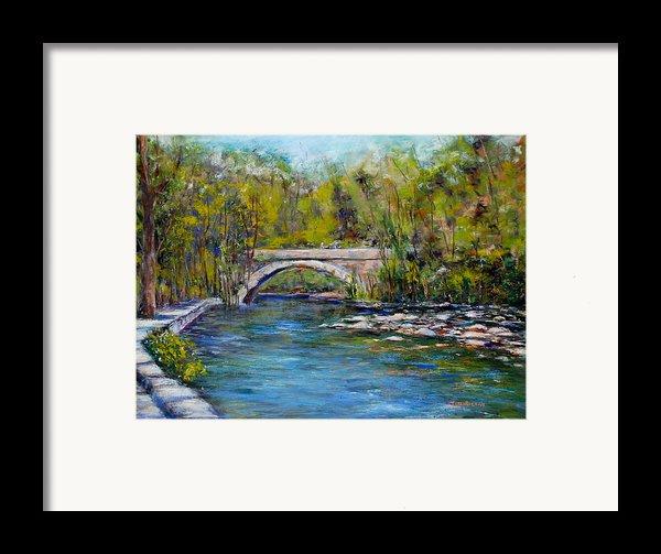 Bridge Over Wissahickon Creek Framed Print By Joyce A Guariglia