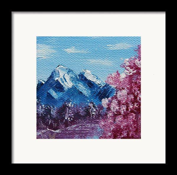 Bright Blue Mountains Framed Print By Jera Sky