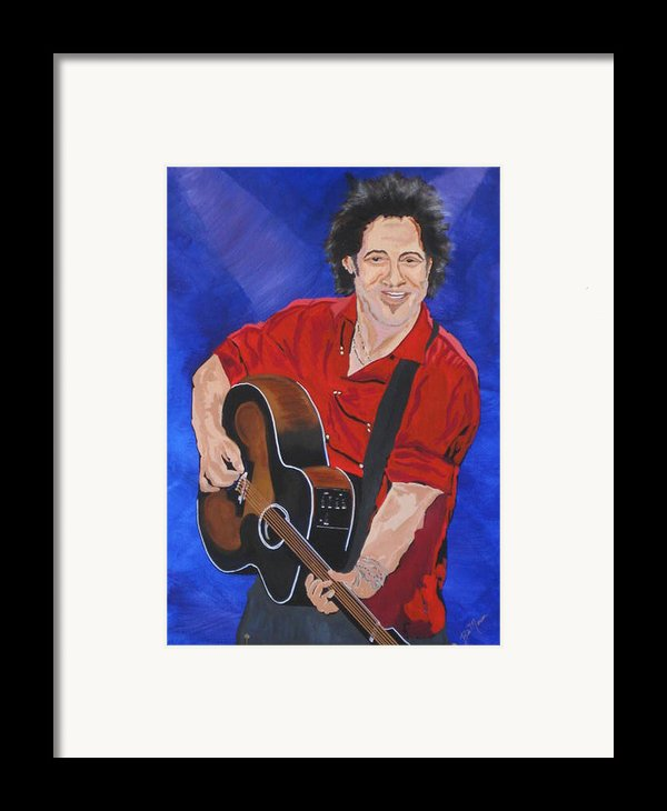 Bruce Springsteen-an American Boy Framed Print By Bill Manson
