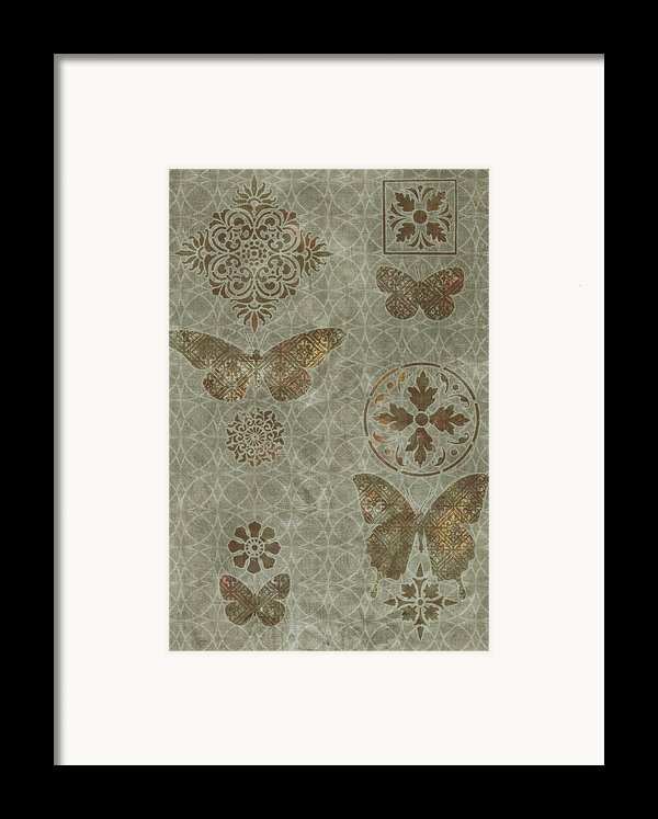 Butterfly Deco 2 Framed Print By Jq Licensing