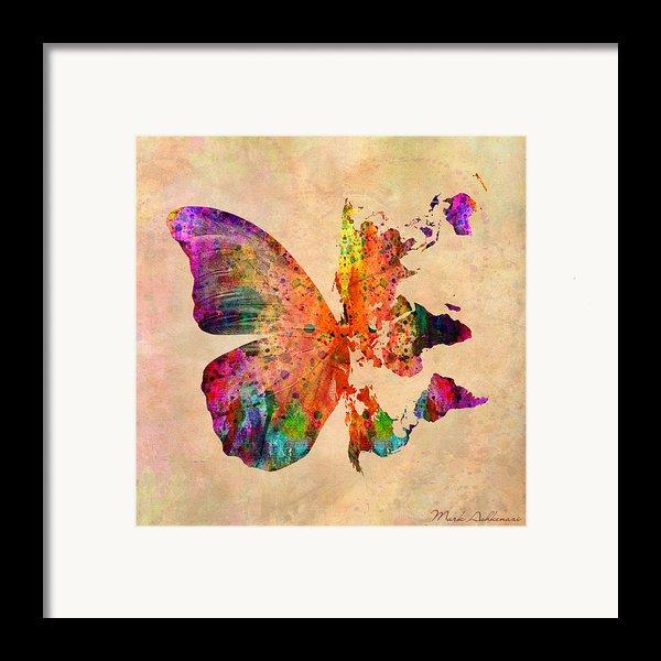 Butterfly World Map  Framed Print By Mark Ashkenazi