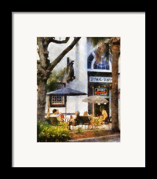 Cafe Framed Print By Francesa Miller