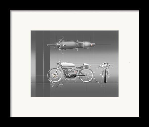 Cafe Racer Framed Print By Jeremy Lacy