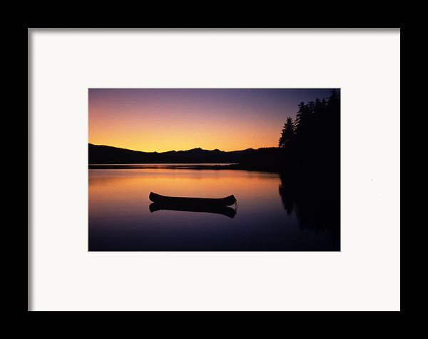 Calming Canoe Framed Print By John Hyde - Printscapes