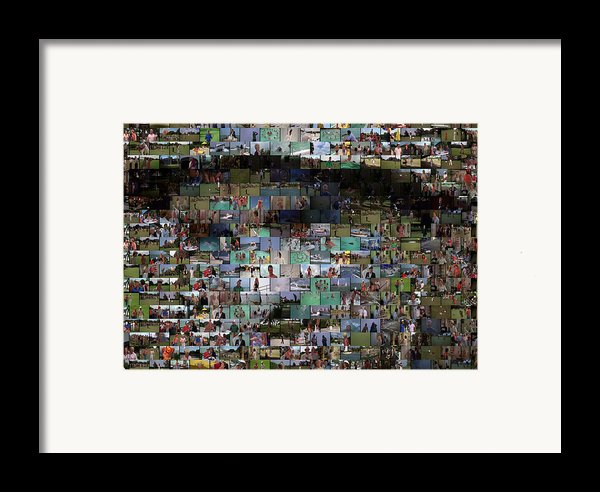 Carl Caddyshack Mosaic Framed Print By Paul Van Scott