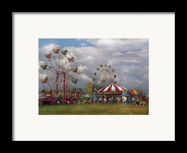 Carnival - Traveling Carnival Framed Print By Mike Savad