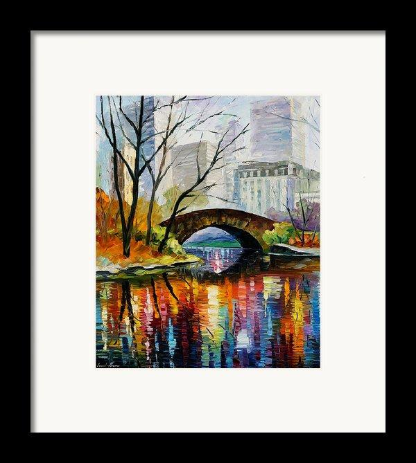 Central Park Framed Print By Leonid Afremov