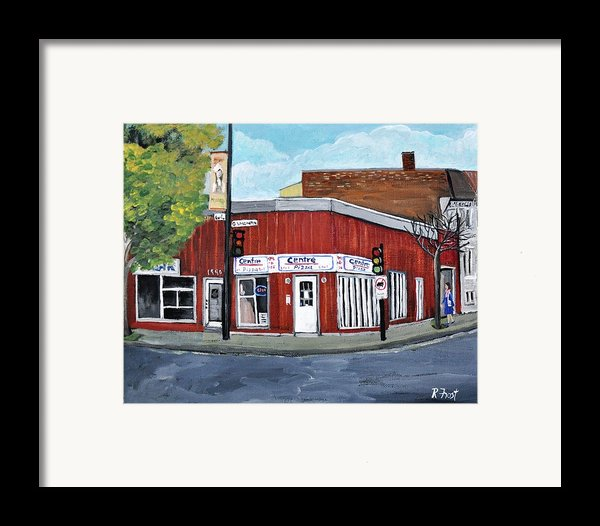 Centre Pizza Verdun Framed Print By Reb Frost