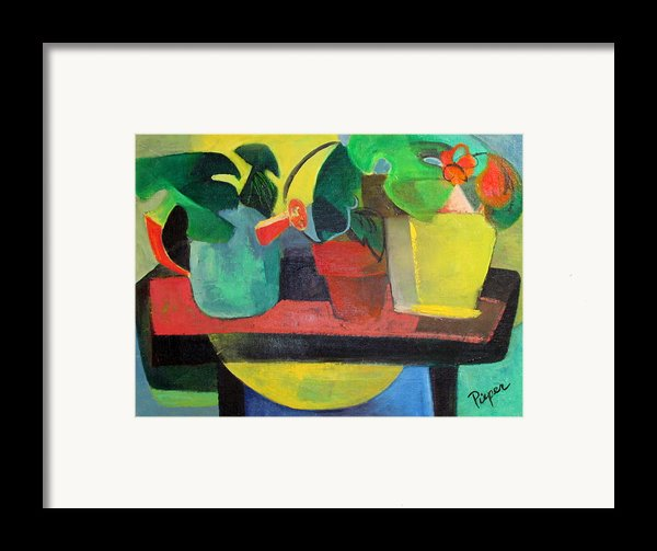 Cezanne Potting Stand Framed Print By Betty Pieper