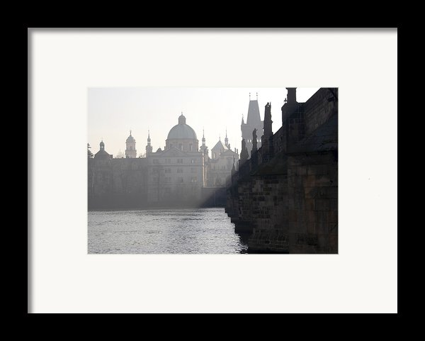 Charles Bridge At Early Morning Framed Print By Michal Boubin