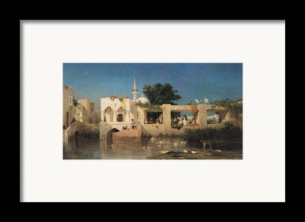 Charles Emile De Tournemine Framed Print By Cafe In Adalia