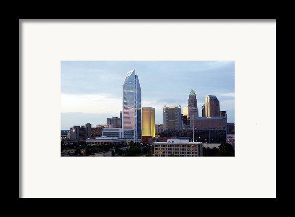 Charlotte Skyline Framed Print By Tim Mattox