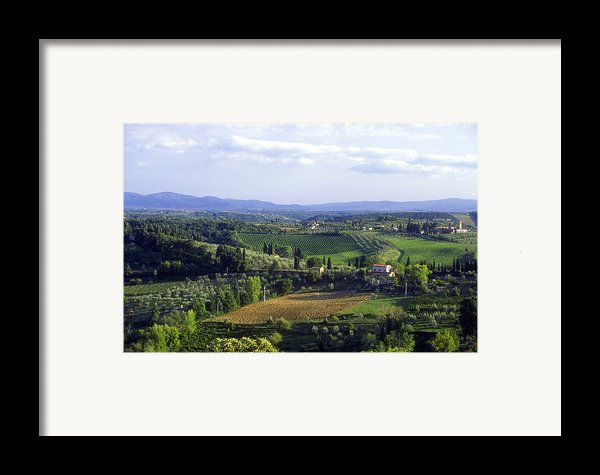 Chianti Region In Italy Framed Print By Gregory Ochocki And Photo Researchers
