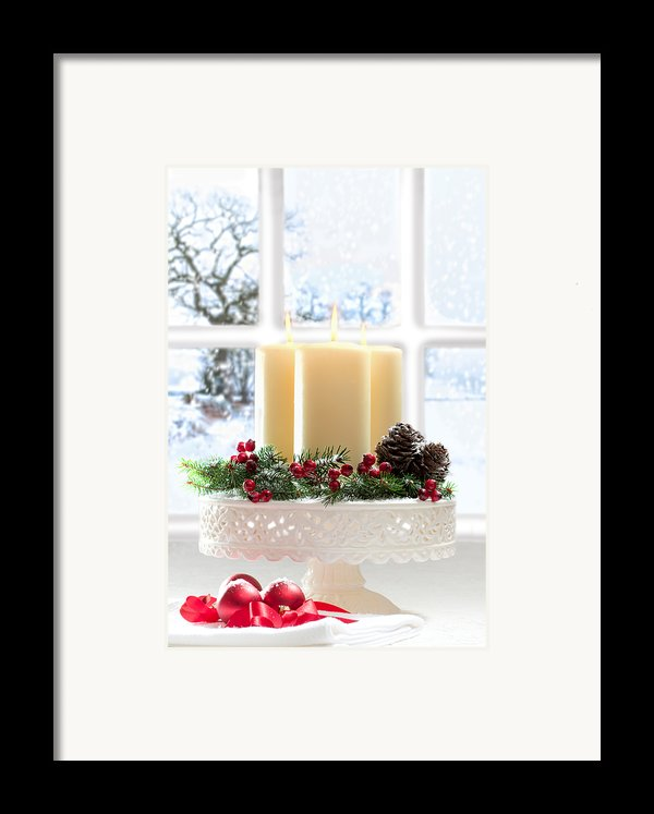 Christmas Candles Display Framed Print By Amanda And Christopher Elwell