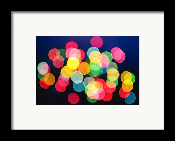 Christmas Lights Abstract Framed Print By Elena Elisseeva