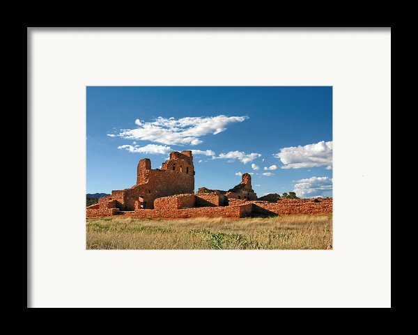 Church Abo - Salinas Pueblo Missions Ruins - New Mexico - National Monument Framed Print By Christine Till