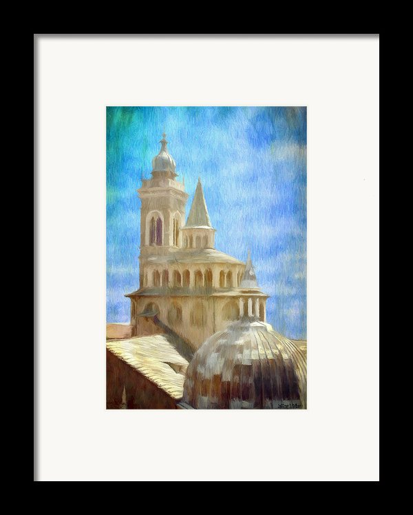 Citta Alta From Above Framed Print By Jeff Kolker