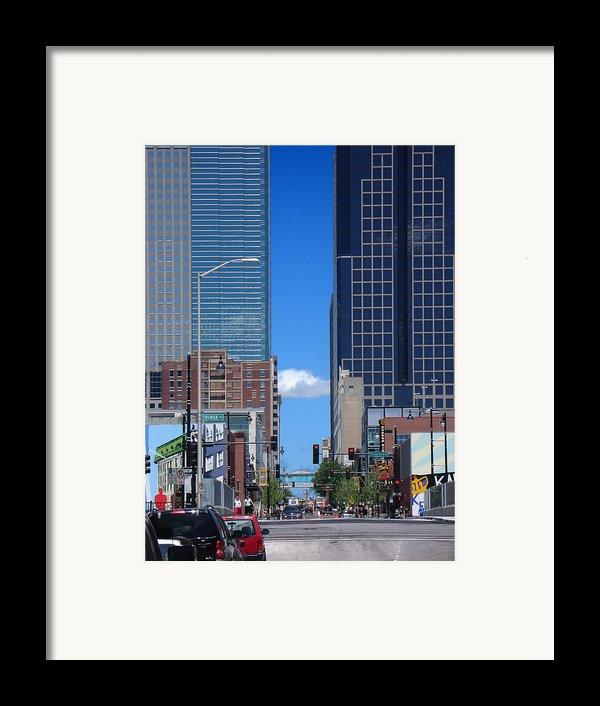 City Street Canyon Framed Print By Steve Karol
