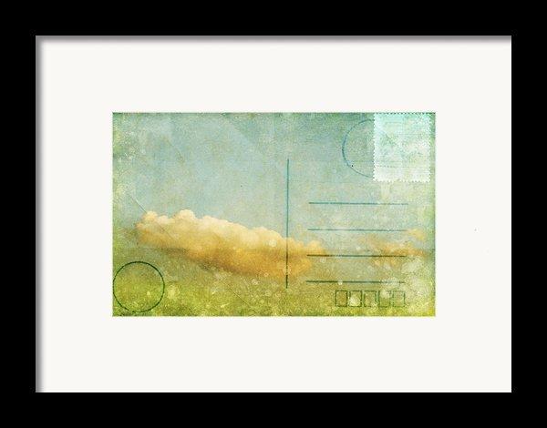 Cloud And Sky On Postcard Framed Print By Setsiri Silapasuwanchai