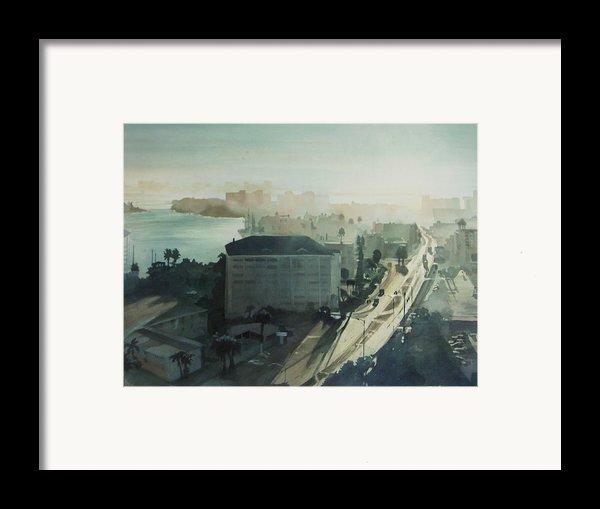 Cold Dawn On Gulf Boulevard Framed Print By Elizabeth Carr