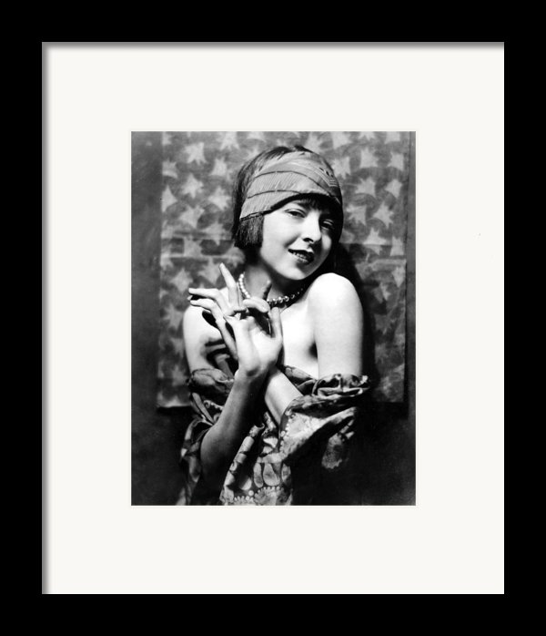 Colleen Moore, Around 1927 Framed Print By Everett