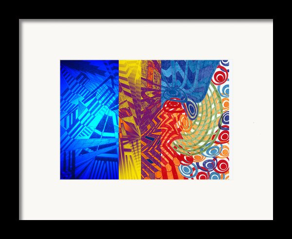 Colorful Light Framed Print By B And C Art Shop