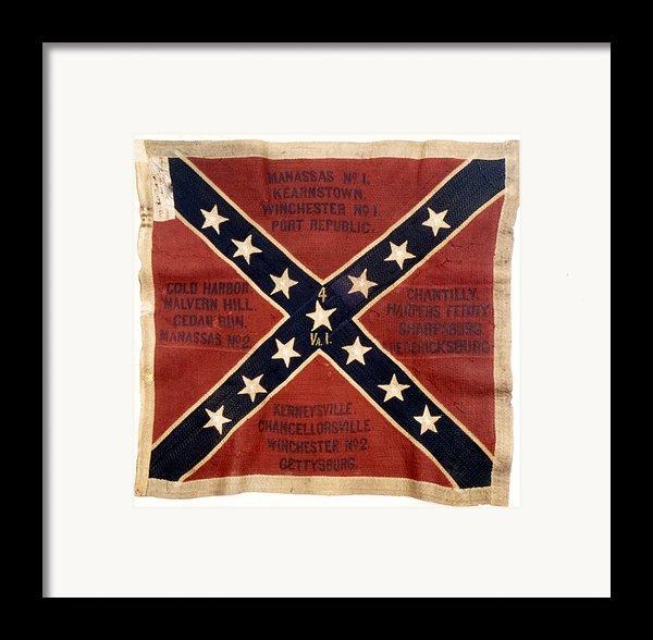 Confederate Flag, 1863 Framed Print By Granger