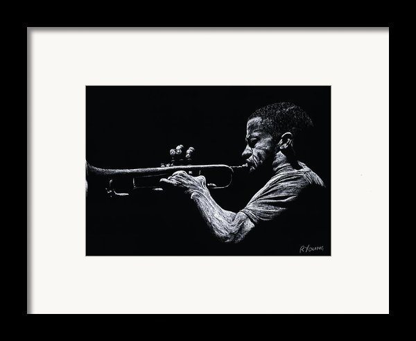 Contemporary Jazz Trumpeter Framed Print By Richard Young