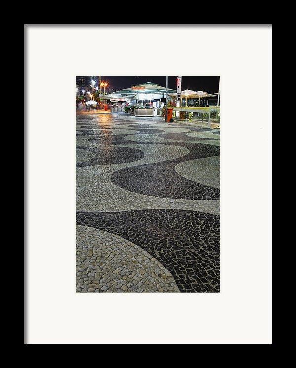 Copacabana Night Framed Print By George Oze